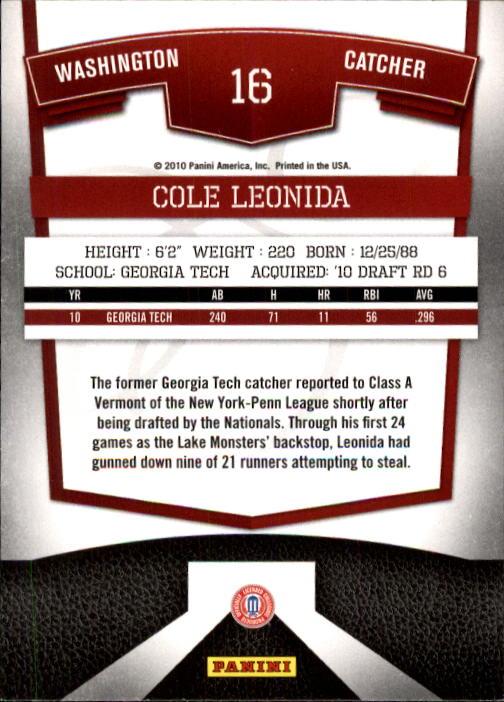 2010 Donruss Elite Extra Edition Aspirations #16 Cole Leonida back image