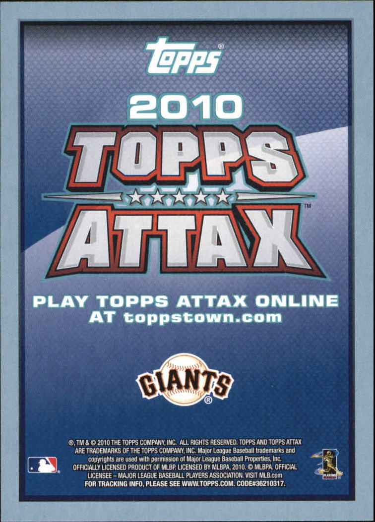 2010 Topps Update Attax Code Cards #69 Buster Posey