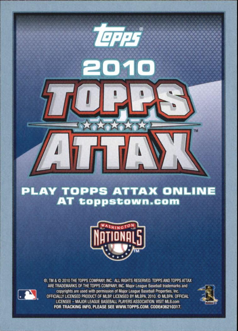 2010 Topps Update Attax Code Cards #76 Stephen Strasburg
