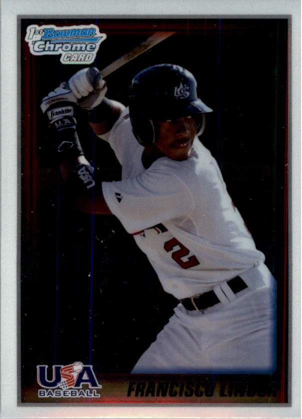 2010 Bowman Chrome USA Stars #USA5 Francisco Lindor