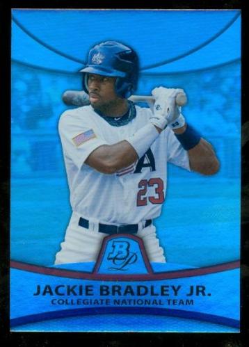 2010 Bowman Platinum Prospects Refractors Thick Stock #PP31 Jackie Bradley Jr.