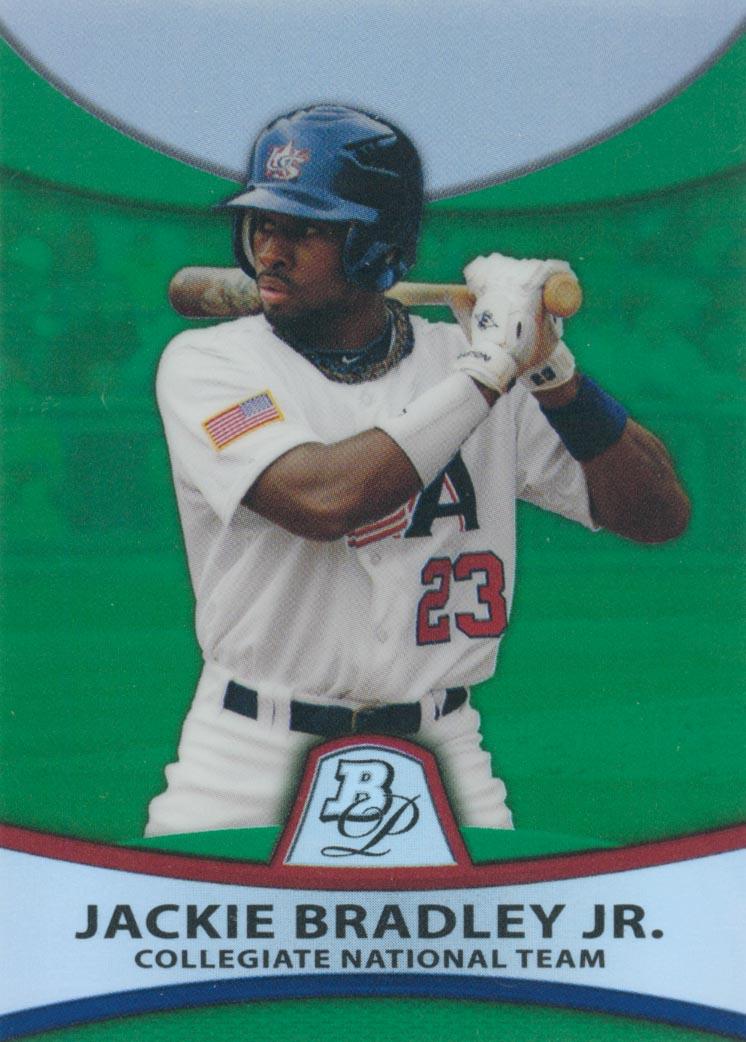 2010 Bowman Platinum Prospects Green Refractors #PP31 Jackie Bradley Jr.