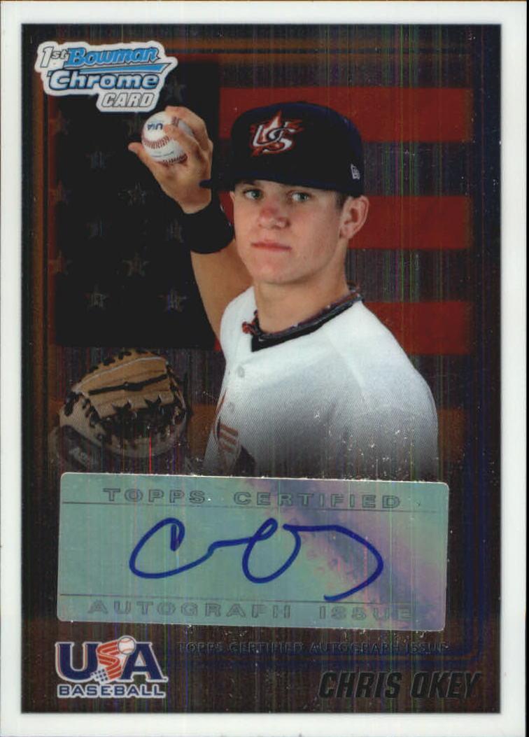 2010 Bowman Chrome Draft USA Baseball Autographs #USAA13 Chris Okey