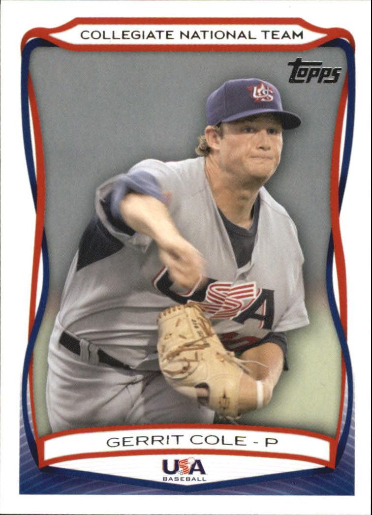 2010 USA Baseball #USA25 Gerrit Cole