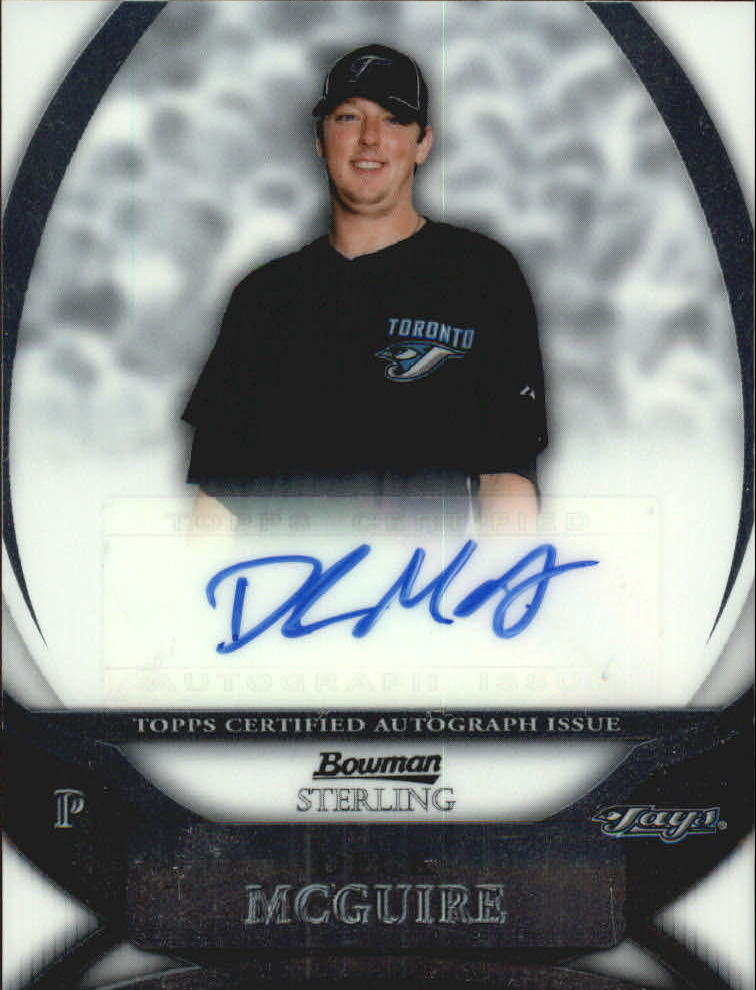 2010 Bowman Sterling Prospect Autographs #DM Deck McGuire