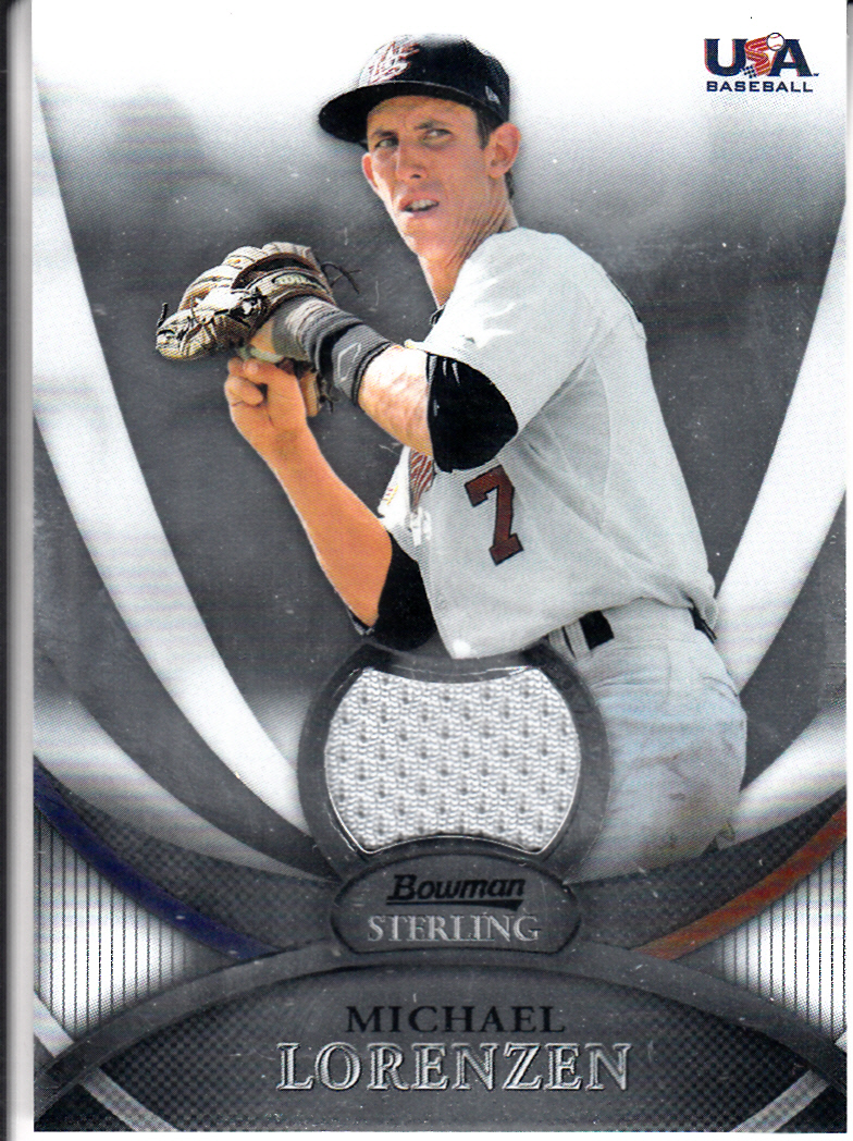 2010 Bowman Sterling USA Baseball Relics #USAR8 Michael Lorenzen