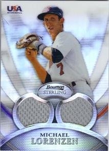 2010 Bowman Sterling USA Baseball Relics Refractors #USAR8 Michael Lorenzen