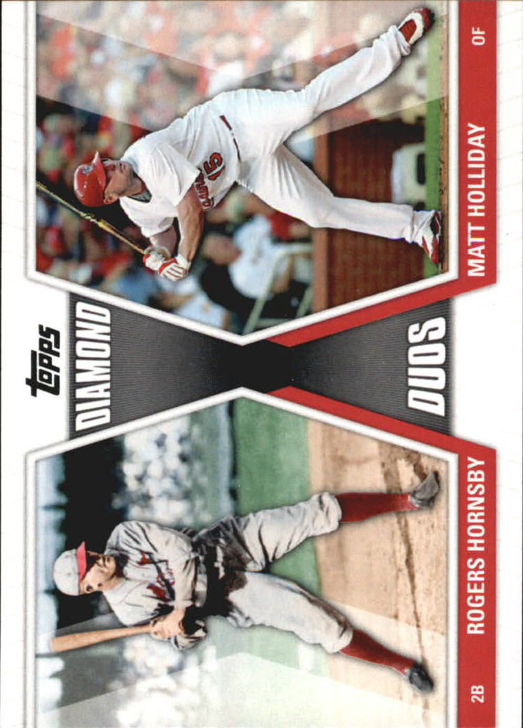 2011 Topps Diamond Duos #HHO Rogers Hornsby/Matt Holliday