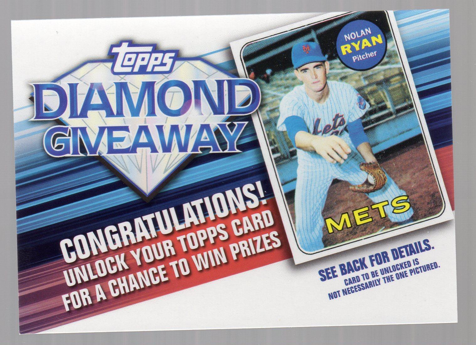 2011 Topps Diamond Giveaway #TDG13 Nolan Ryan