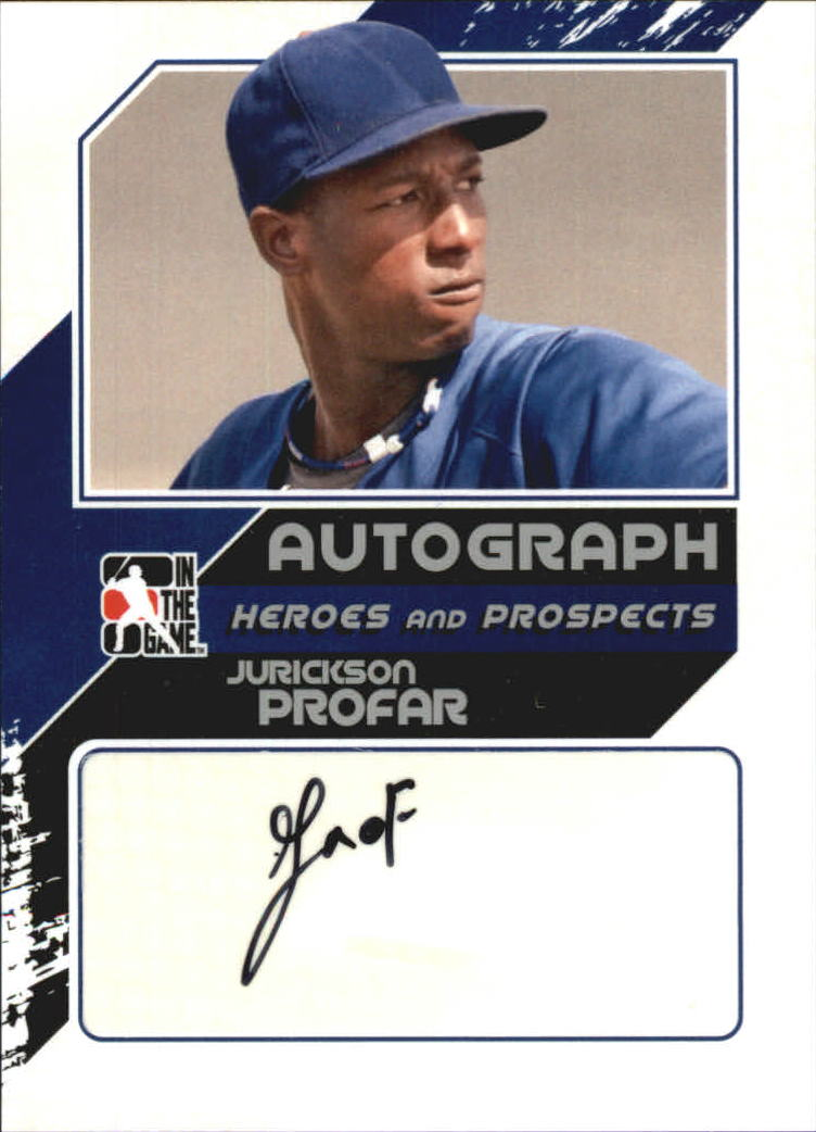 2011 ITG Heroes and Prospects Close Up Autographs Silver #JP2 Jurickson Profar HN
