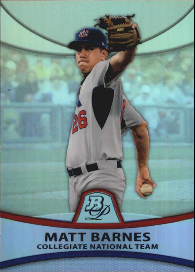 2010 Bowman Platinum Prospects Refractors Thin Stock #PP30 Matt Barnes