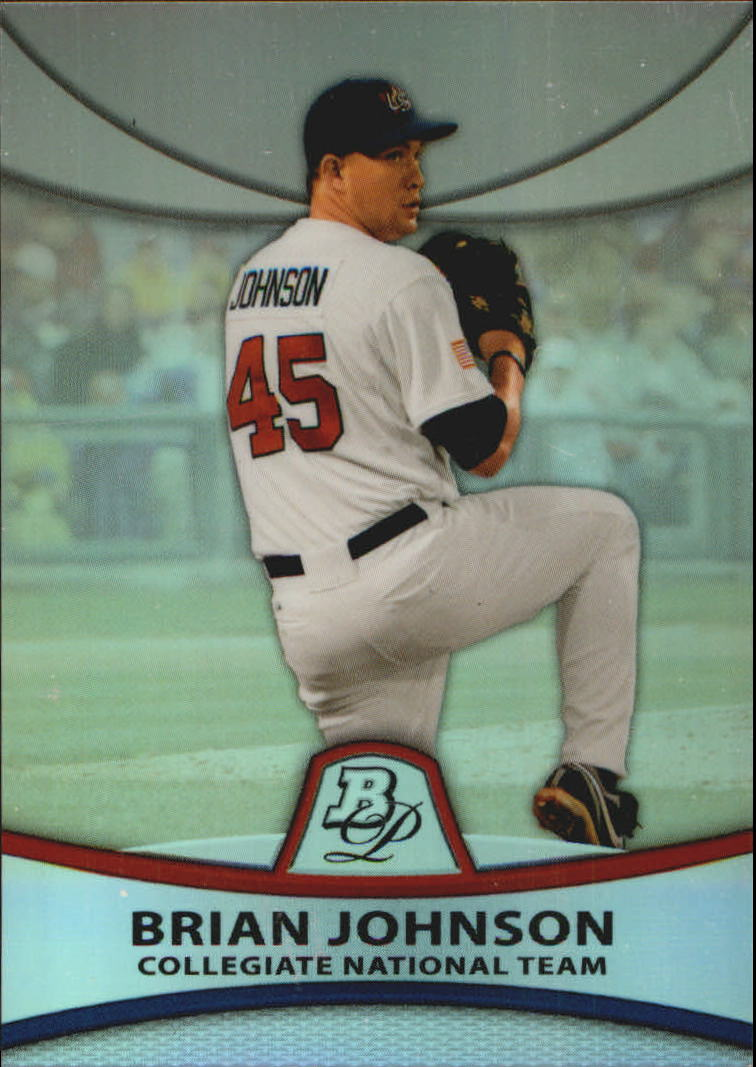 2010 Bowman Platinum Prospects Refractors Thin Stock #PP38 Brian Johnson