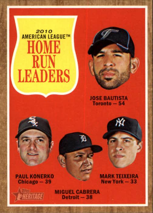 2011 Topps Heritage #53 Jose Bautista/Paul Konerko/Miguel Cabrera/Mark Teixeira