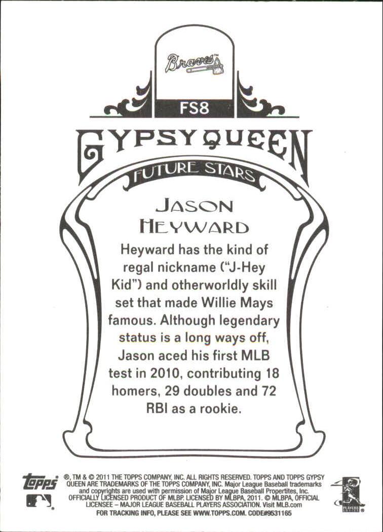Verzamelkaarten: sport 2011 Topps Gypsy Queen Future Stars Mini #FS8 Jason Heyward Atlanta Braves Card