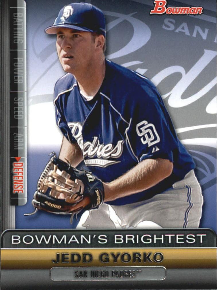 2011 Bowman Bowman's Brightest #BBR25 Jedd Gyorko