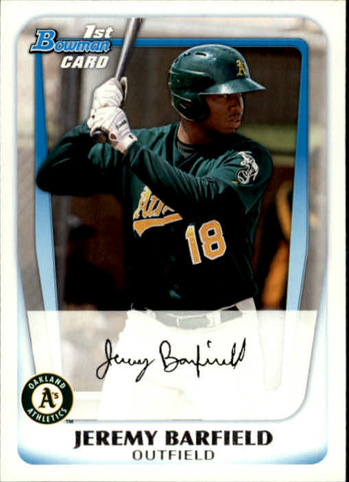 2011 Bowman Prospects #BP3 Jeremy Barfield