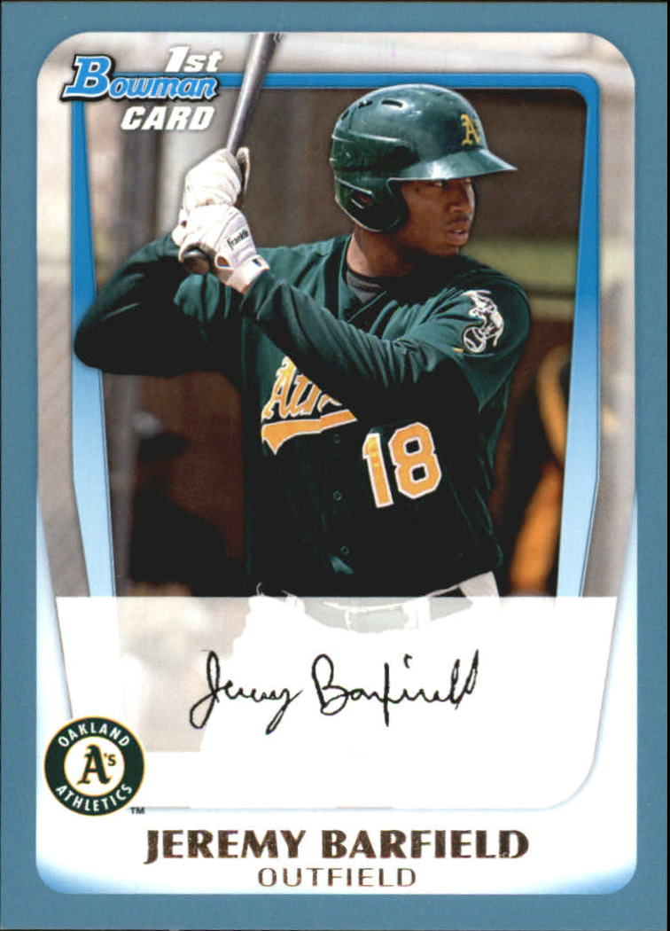 2011 Bowman Prospects Blue #BP3 Jeremy Barfield