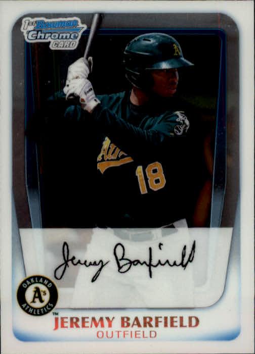 2011 Bowman Chrome Prospects #BCP3 Jeremy Barfield