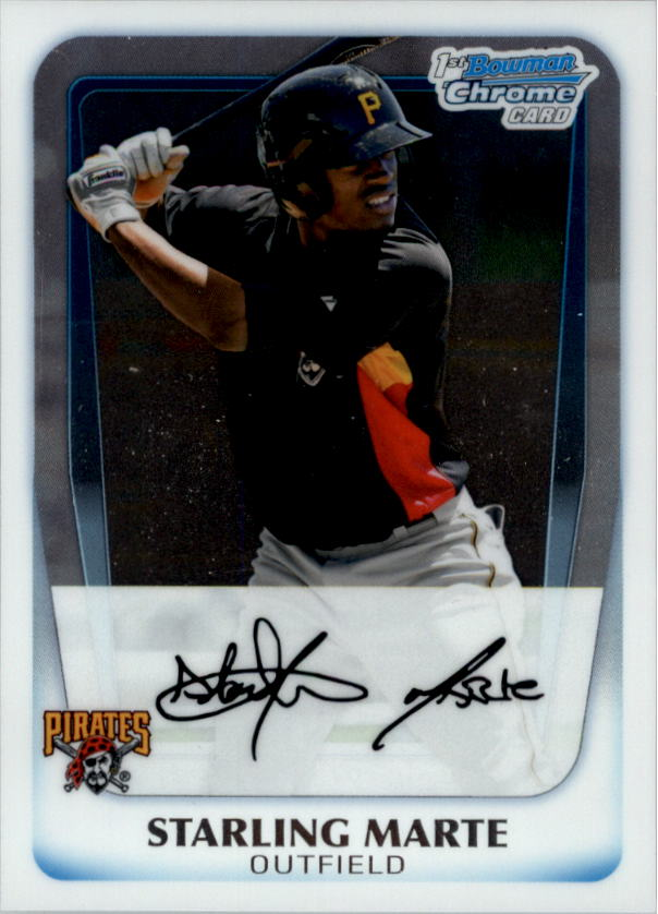2011 Bowman Chrome Prospects #BCP178 Starling Marte