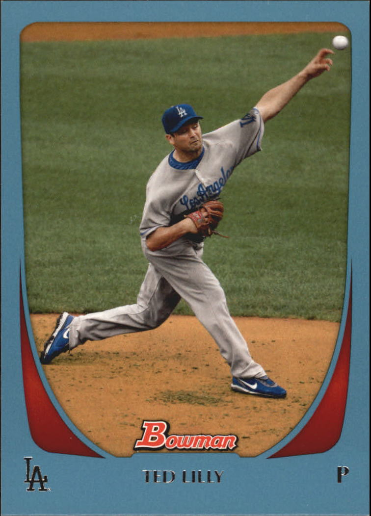 2011 Bowman Blue #8 Ted Lilly