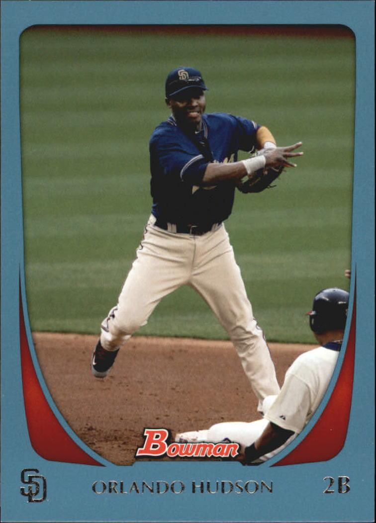 2011 Bowman Blue #12 Orlando Hudson