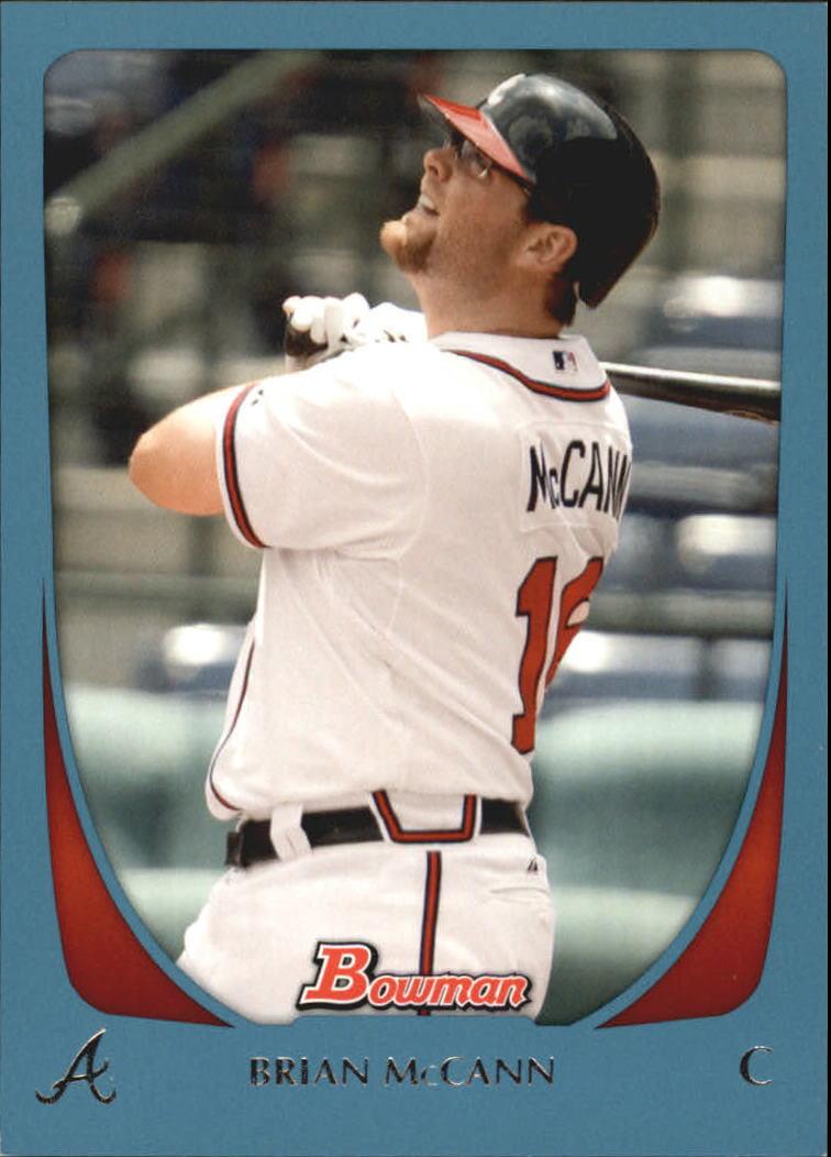 2011 Bowman Blue #23 Brian McCann
