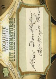 2011 SP Legendary Cuts Exquisite Cuts #1 Abner Doubleday/1