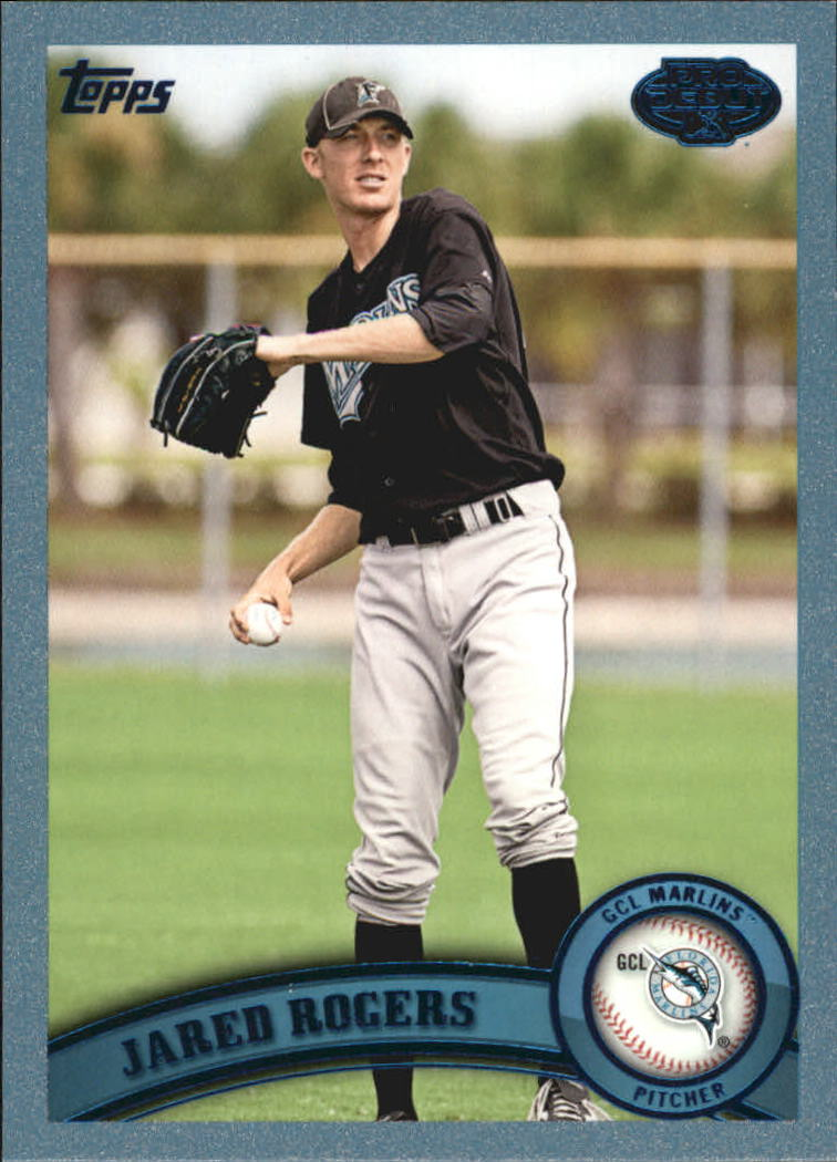 2011 Topps Pro Debut Blue #34 Jared Rogers