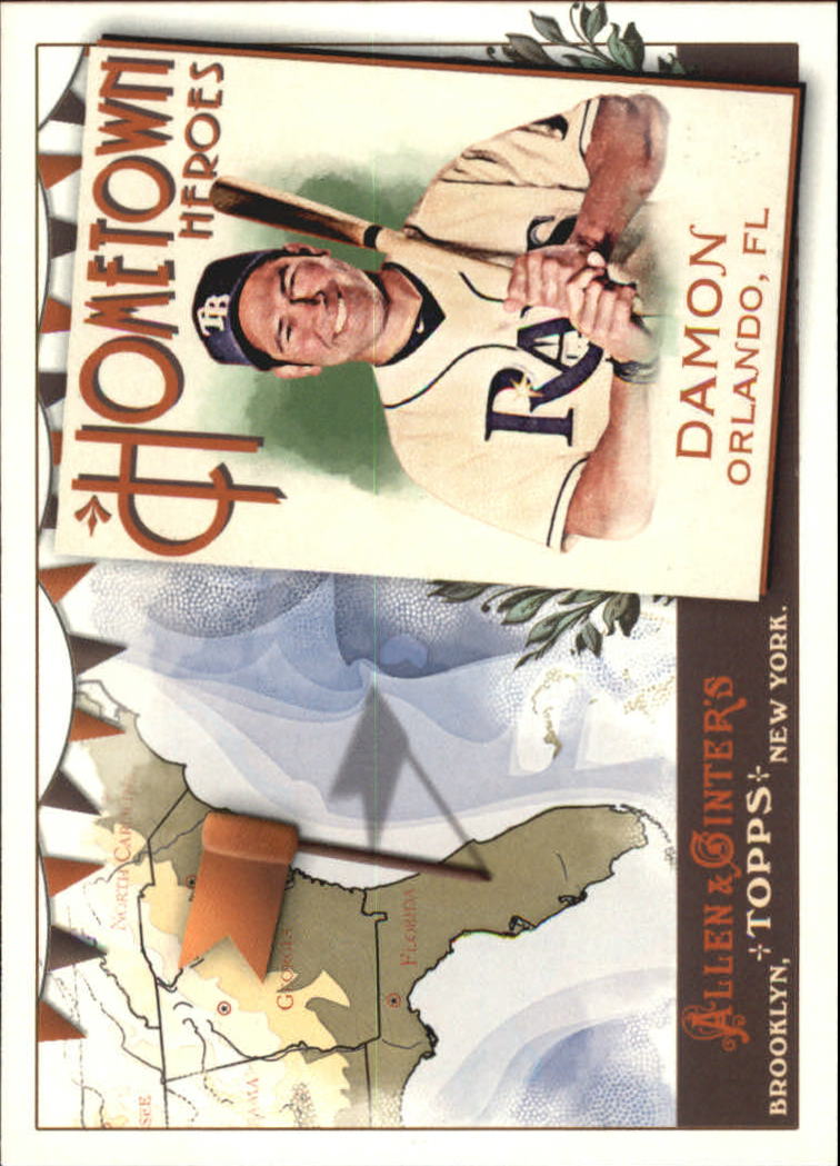 2011 Topps Allen and Ginter Hometown Heroes #HH68 Johnny Damon