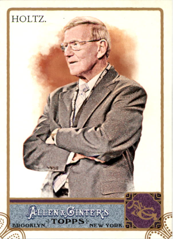 2011 Topps Allen and Ginter Code Cards #3 Lou Holtz