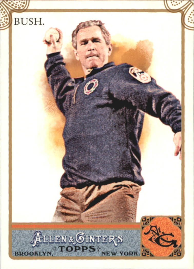 2011 Topps Allen and Ginter Code Cards #147 George Bush