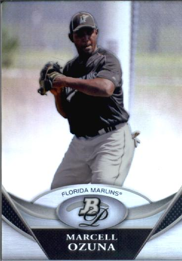 2011 Bowman Platinum Prospects Refractors #BPP88 Marcell Ozuna