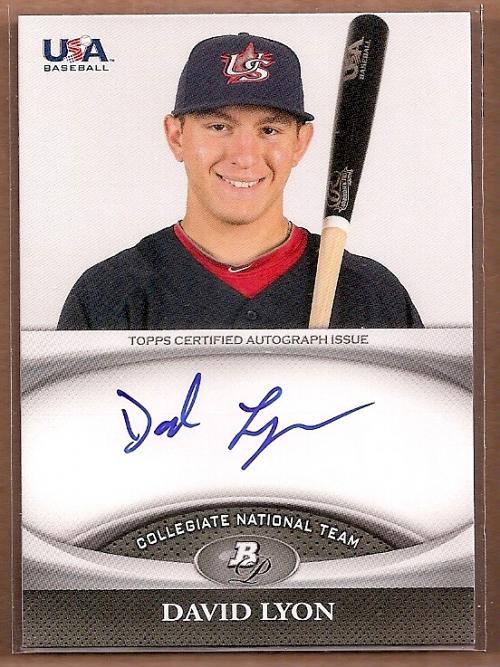 2011 Bowman Platinum Team USA National Team Autographs #DL David Lyon