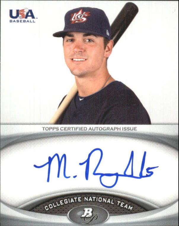 2011 Bowman Platinum Team USA National Team Autographs #MR Matt Reynolds