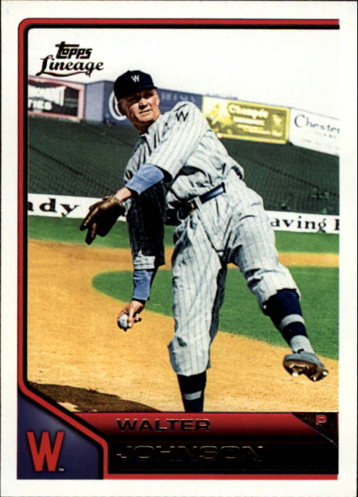 2011 Topps Lineage #16 Walter Johnson