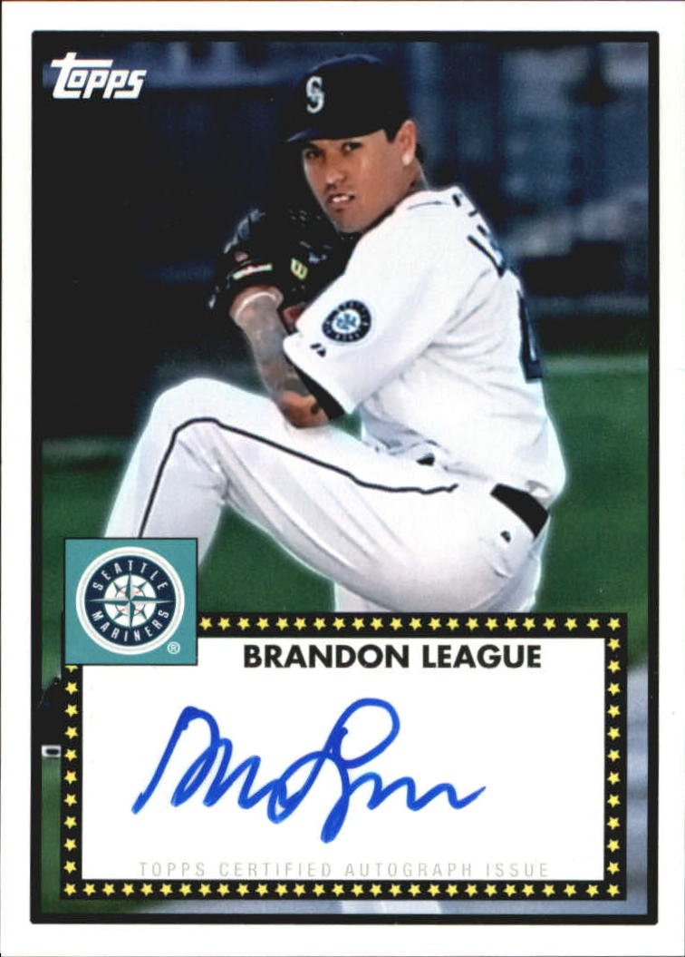2011 Topps Lineage 1952 Autographs #52ABL Brandon League