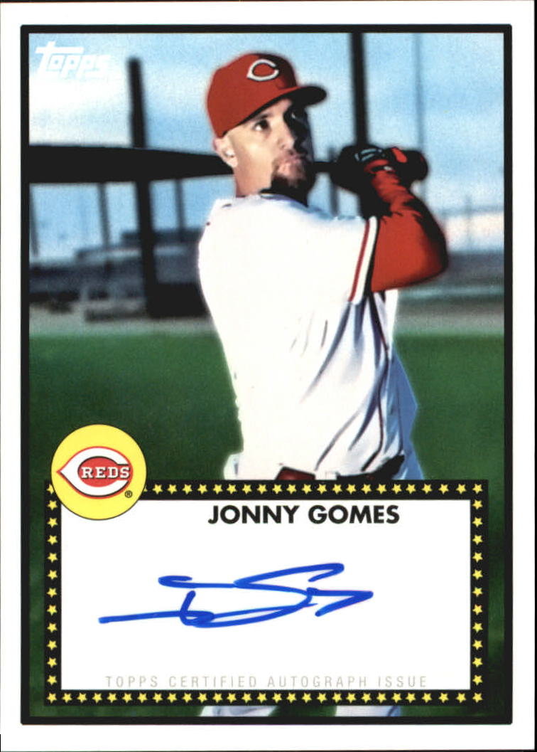 2011 Topps Lineage 1952 Autographs #52AJG Jonny Gomes