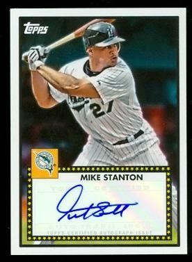 2011 Topps Lineage 1952 Autographs #52AMS Mike Stanton