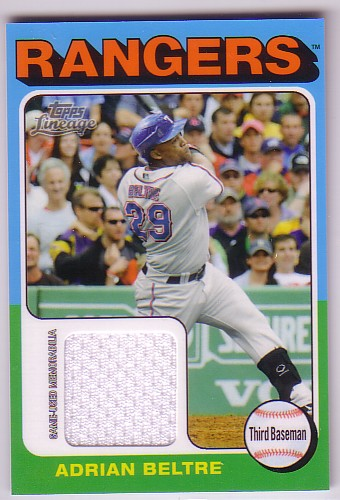 2011 Topps Lineage 1975 Mini Relics #AB Adrian Beltre