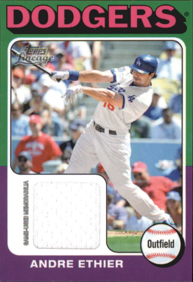 2011 Topps Lineage 1975 Mini Relics #AE Andre Ethier