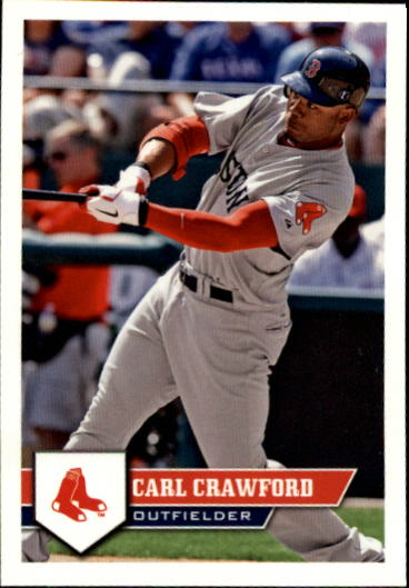 2011 Topps Stickers #10 Carl Crawford