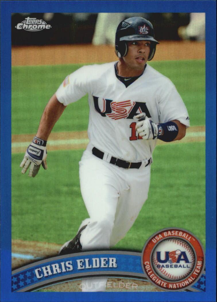 2011 Topps Chrome USA Baseball Blue Refractors #USABB4 Chris Elder