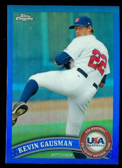 2011 Topps Chrome USA Baseball Blue Refractors #USABB7 Kevin Gausman