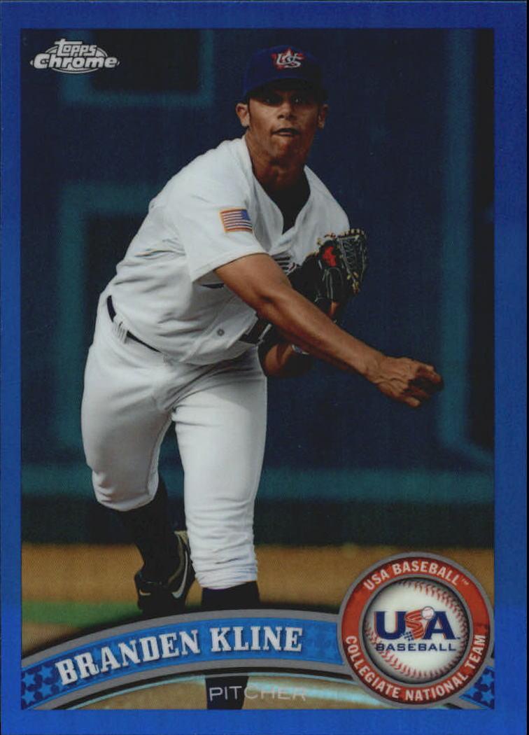 2011 Topps Chrome USA Baseball Blue Refractors #USABB9 Branden Kline
