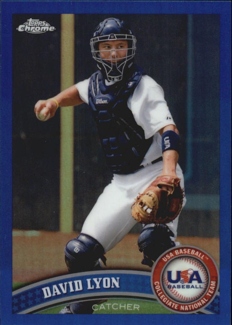 2011 Topps Chrome USA Baseball Blue Refractors #USABB12 David Lyon