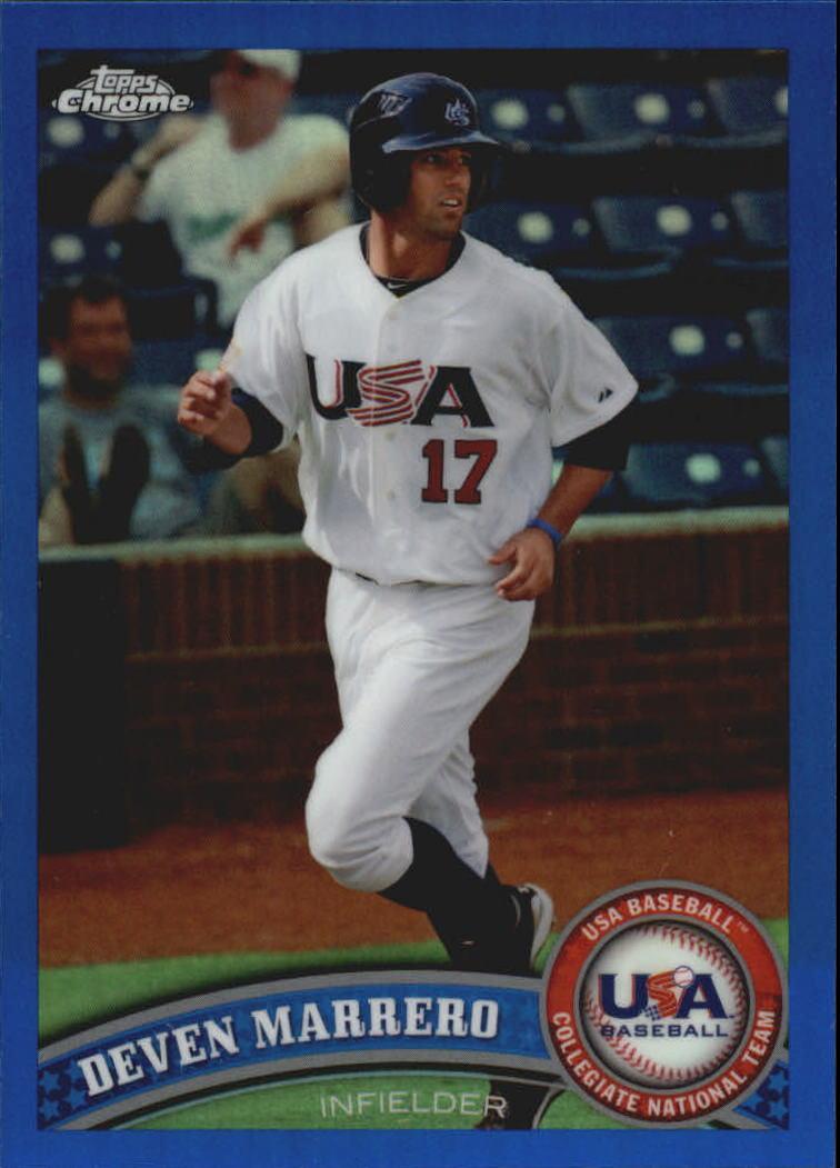 2011 Topps Chrome USA Baseball Blue Refractors #USABB13 Deven Marrero