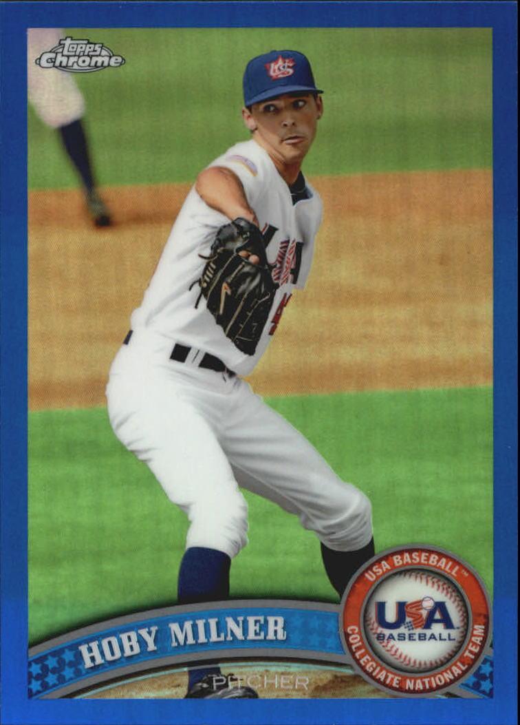 2011 Topps Chrome USA Baseball Blue Refractors #USABB14 Hoby Milner