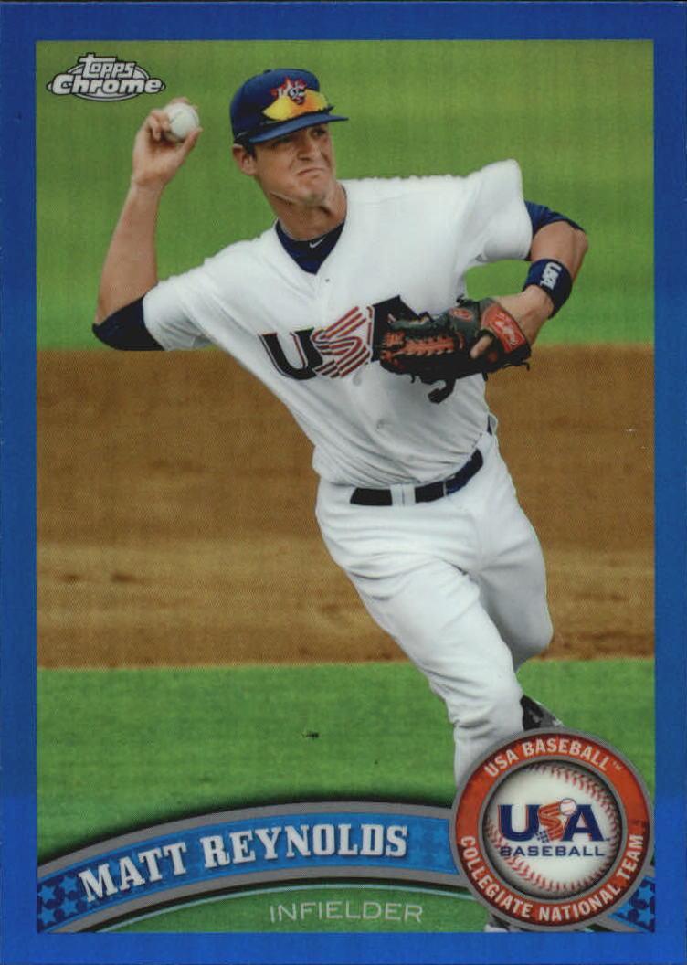 2011 Topps Chrome USA Baseball Blue Refractors #USABB18 Matt Reynolds