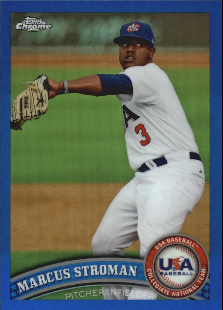 2011 Topps Chrome USA Baseball Blue Refractors #USABB20 Marcus Stroman