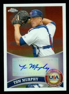 2011 Topps Chrome USA Baseball Autographs #USABB16 Tom Murphy